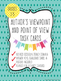 Author's Viewpoint and Point of View Task Cards
