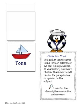 Author's Viewpoint {including Style, Tone, & Mood} Interactive Notebook