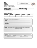 Author's Voice--notes page for students