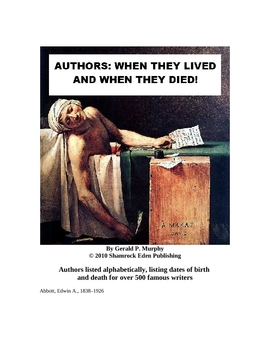Authors: When They Lived and When They Died