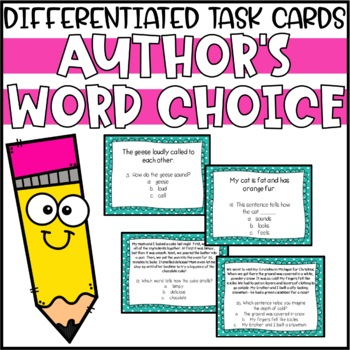 Author's Word Choice Differentiated Task Cards