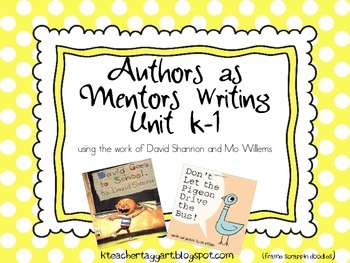 Authors as Mentors Writing Unit