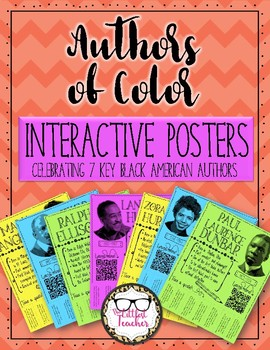 Authors of Color Interactive Posters Celebrating Black Authors