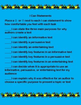 Author's purpose (differentiated lesson Common Core Aligned)