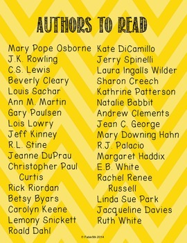 Authors to Read Poster