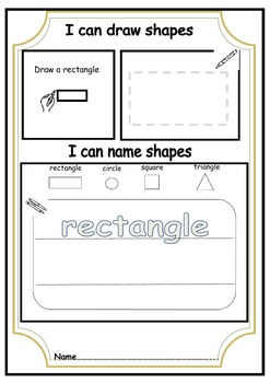 All about shapes (Kindergarten/Special needs)