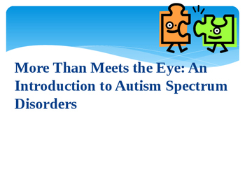 Autism 101 Training PowerPoint Presentation Professional Development