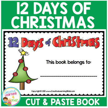 Twelve Days Of Christmas Book.Twelve Days Of Christmas Cut Paste Book