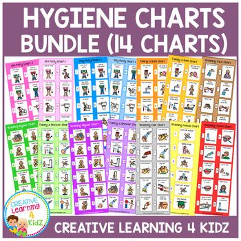 Hygiene Charts Bundle Daily Living Skills