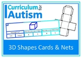 3D Shapes Clip Cards + Nets of Shapes, Autism, Special Education Math