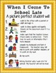 """Social Stories """"Picture Perfect Student"""" Posters SCHOOL EN"""