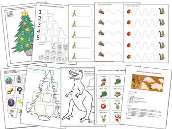 Autism, Christmas, Spec Ed Language with How Do Dinosaurs Say Merry Christmas?