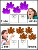 Autism AUTUMN LEAVES Interactive Counting Sentence Building Pre-K/Kindergarten