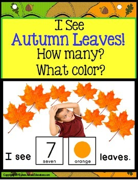 Autism AUTUMN LEAVES Interactive Counting Sentence Buildin