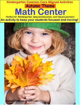 Autism AUTUMN MATH CENTER {Special Education/Pre-K} Stand Up and Learn Series