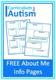About Me Autism Graphic Organizers Back To School