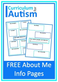 """Autism Acceptance Awareness """"How Autism Affects Me"""", Middl"""