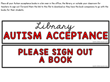 Autism Acceptance Library and Book Study