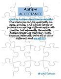 Autism Acceptance Puzzle Activity FREEBIE