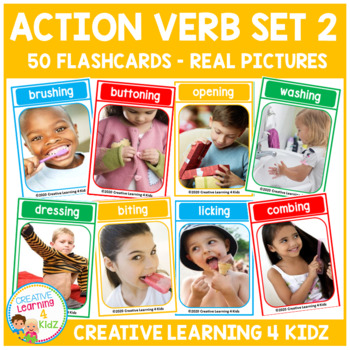 Action Verb Cards Set 2