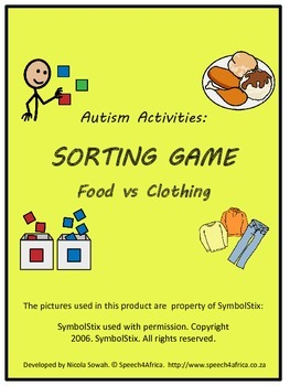 Autism Activities: Sorting Food vs Clothing
