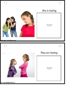 Autism Activity Emotions Interactive Book for Social Skills Developmemt
