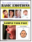 Autism Activity Emotions Interactive Book for Social Skill