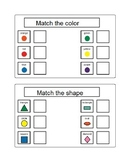 Activity For Students with Autism - MATCHING COLORS & SHAPES