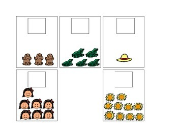 Activity For Students with Autism - MATCHING NUMBERS TO THE CORRECT PICTURE
