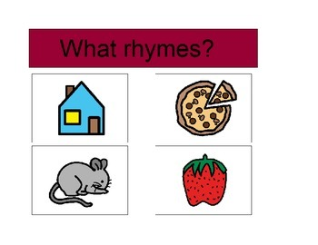 Activity For Students with Autism - WHAT RHYMES?