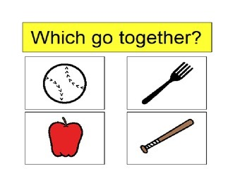 Autism Activity - WHICH GO TOGETHER? (PECS)