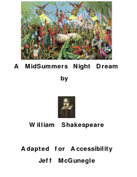 Autism Adapted Book   A MidSummer Nights Dream