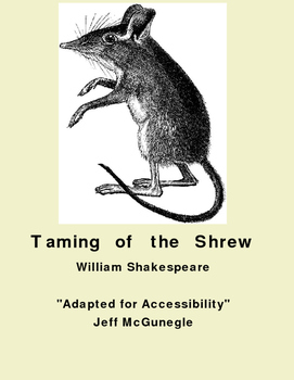 Autism Adapted Novel (PDF Color)  The Taming of The Shrew  Shakespeare