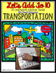 Autism Adapted Task Cards Books -Transportation COUNT/ ADD/ SUBTRACT BUNDLE