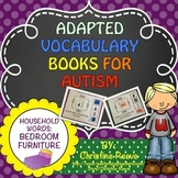 Autism Adapted Vocabulary Books: Household Words BEDROOM F