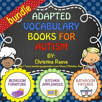 Autism Adapted Vocabulary Books: Household Words BUNDLE (S