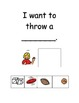 Autism Adaptive Book Social Story - We Can Throw