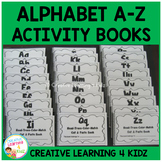 Alphabet A-Z Cut & Paste Activity Book Bundle