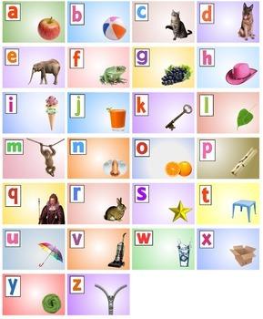 Autism Alphabet Poster (A2) - color backgrounds