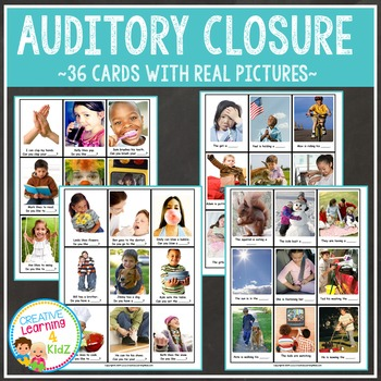 Auditory Closure Cards