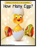 Autism: Autism Colors and Counting with Number Recognition {How Many Eggs?}