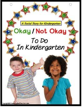 Social Story Autism & File Folder Game OKAY/NOT OKAY Kindergarten