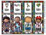 Autism Awareness Bookmarks -  4 Designs