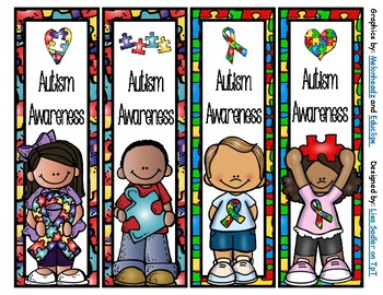 Autism Awareness Bookmarks -  4 Designs