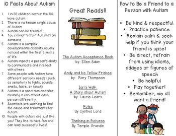 Autism Awareness Brochure (For Kids!)