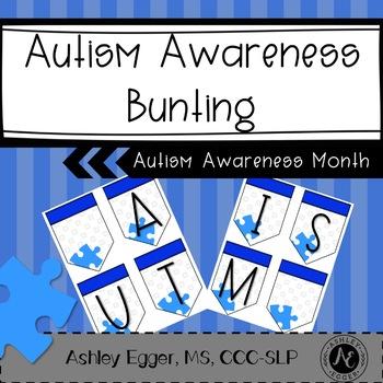 Autism Awareness Bunting