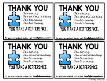Autism Awareness Cards