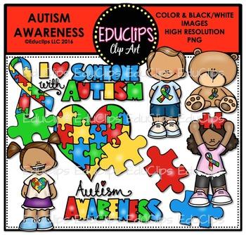 Autism Awareness Clip Art Bundle {Educlips Clipart}