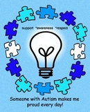 Autism Awareness Clip Art and Poster