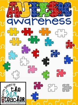 Autism Awareness Clip Art/Graphics: Fun Puzzle Pieces